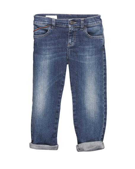 Script-Pocket Logo Jeans