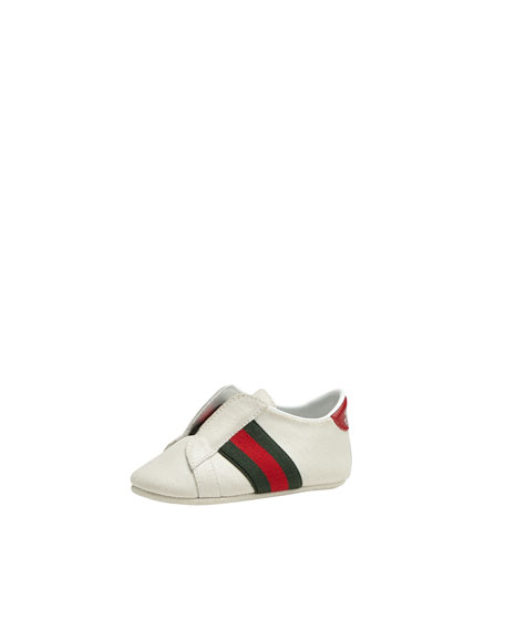 gucci baby laceless sneaker pink