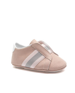 Gucci Baby Laceless Brooklyn Sneaker, Toffee