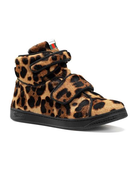 Bricklane Leopard-Print Calf Hair High-Top