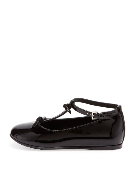 Beverly Patent T-Strap Shoe, Black