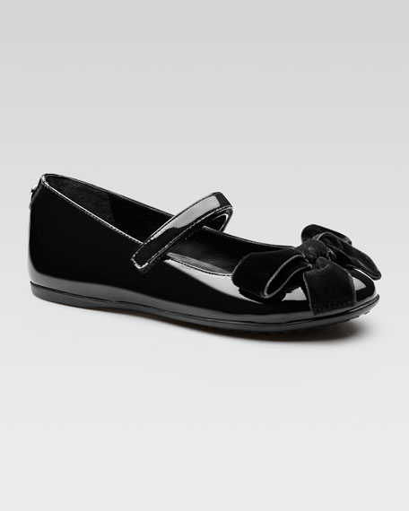 Viola Patent Bow Mary Jane, Black