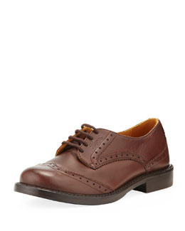 Gucci Acheronte Lace-Up Oxford, Cocoa