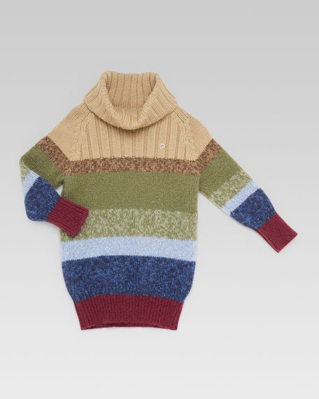 Striped Sweaterdress, Multi