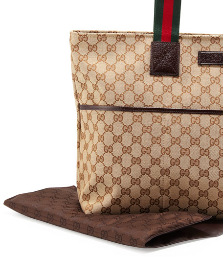 d201ad2f806 Gucci GG Diaper Bag with Changing Pad