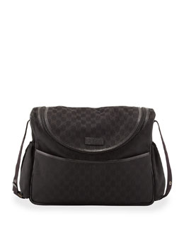 Gucci GG Supreme Zip Diaper Bag