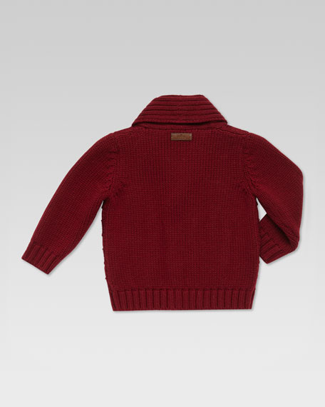 Buttoned Shawl-Collar Cardigan