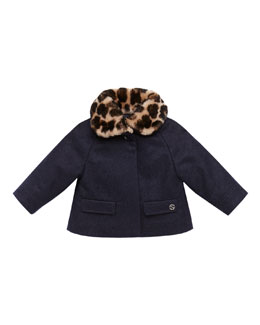 Gucci Fur-Collar Swing Coat