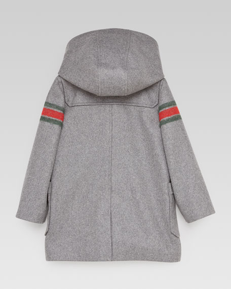 Montgomery Striped-Sleeve Toggle Coat