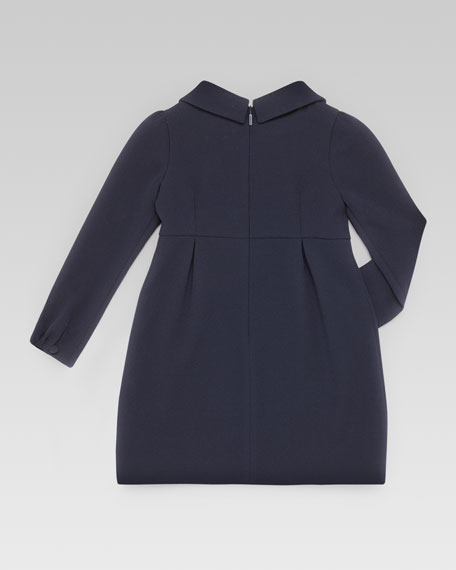 Bow Collar Dress, Dark Blue