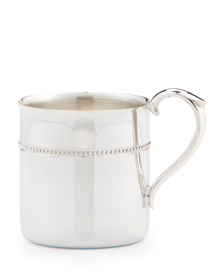 Baby Silver-Plated Beaded Cup