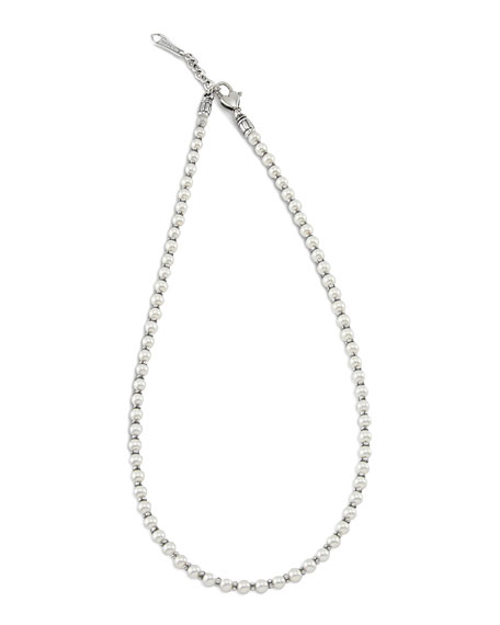 LAGOS Kinder Sterling Silver & Pearl Necklace