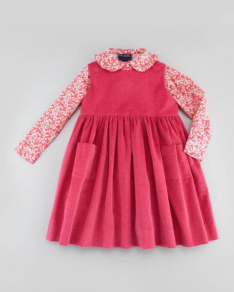 Baby Double Ric-Rac Blouse, Hot Pink, 18M-2Y