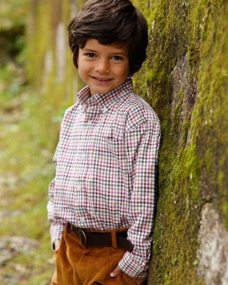 Boys' Gingham Button-Down, Red/Multi, 18M-3Y