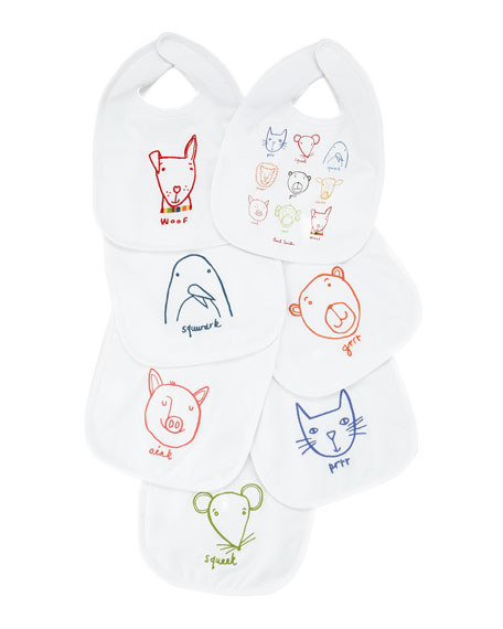 Eucher 7-Piece Bib Set, White