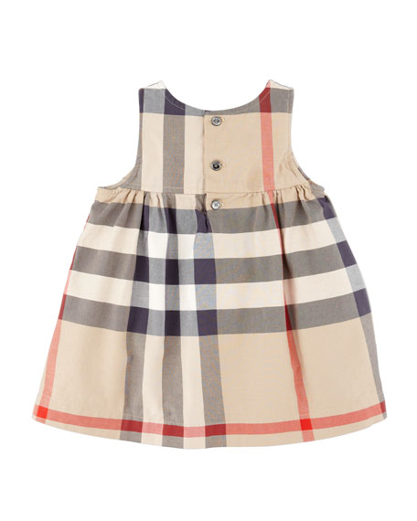 Della Check Sleeveless Jumper, 6-18 Months
