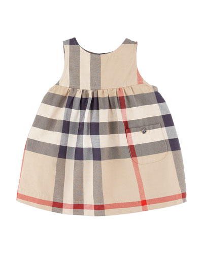 Burberry Check Sleeveless Jumper, 6-18 Months