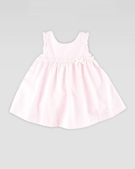 Ruffle-Trim Corduroy Dress, Pink, 3-24 Months