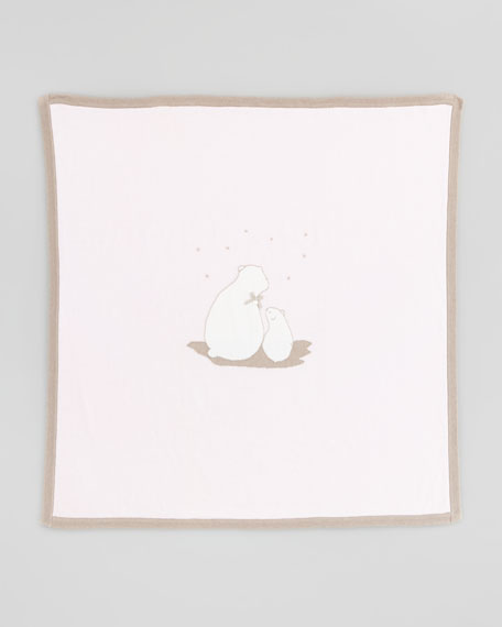 Polar Bear Blanket, Light Pink
