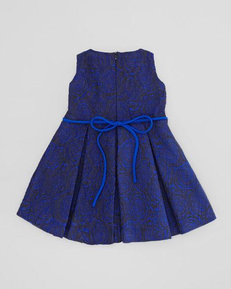 Soft Rose Brocade Dress, Blue, Sizes 4-6X