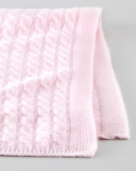 Cashmere Baby Blanket, Cherry Blossom