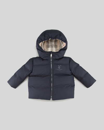 Burberry Quilted Puffer Coat, Navy, 3-18 Months