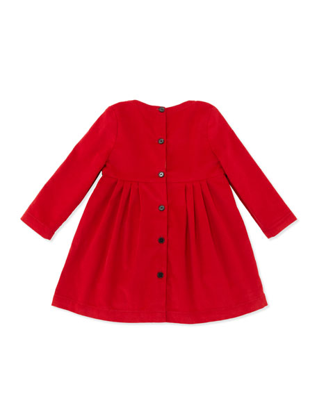 Girls' Corduroy Dress, Red, 12-18 Months