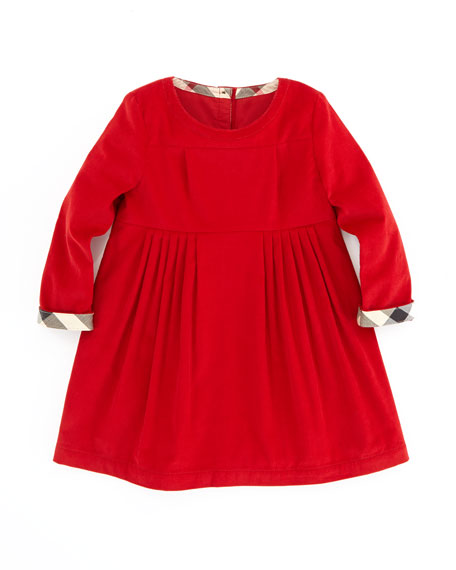 Girls' Corduroy Dress, Ruby, 2T-3T