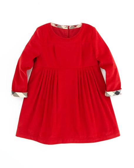 Girls' Corduroy Dress, Ruby, 2T-3T
