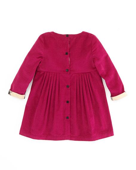 Girls' Corduroy Dress, Pink, 12-18 Months