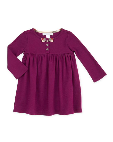Infant Girl's Long-Sleeve Knit Dress, Purple, 12-18 Months