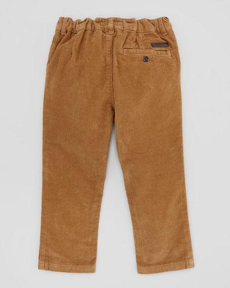 Boys White Formal Pants slacks set complete with faux leather belt