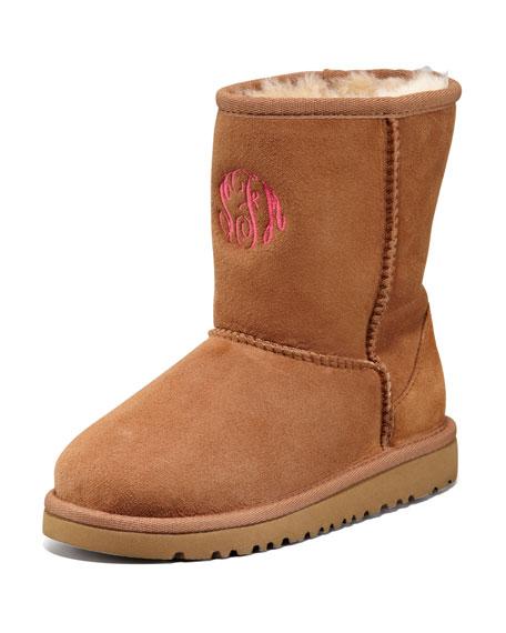 Monogram Classic Short Boot, Chestnut, 13T-4Y