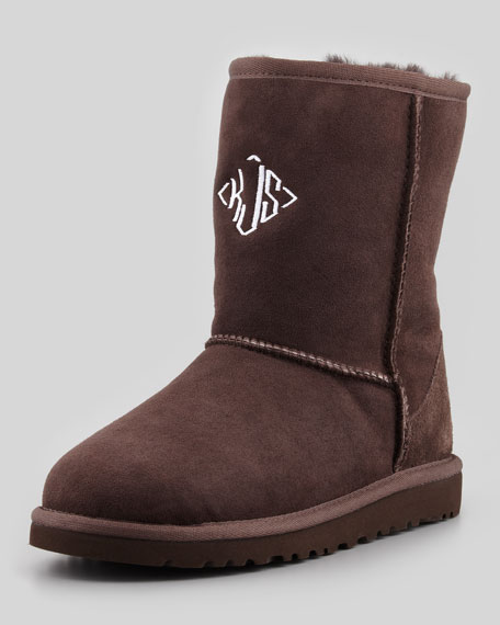 Monogrammed Classic Short Boot, 5Y-6Y
