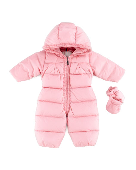 Eve Quilted Snowsuit & Mittens, Pink, 18M-2T