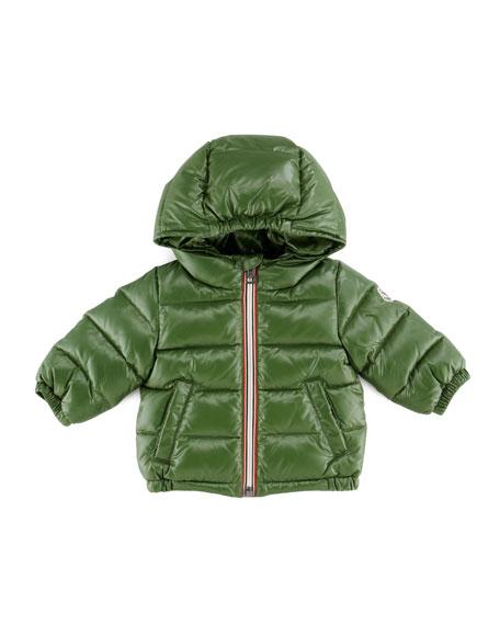Aubert Quilted Puffer Jacket, Green, 3-24 Months