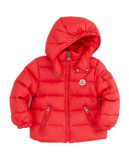Moncler Jules Quilted Puffer Jacket, Red