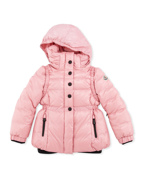 Bering Puffer Jacket, Pink, Sizes 2-6