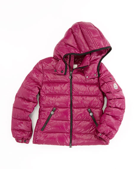 Bady Quilted Puffer Jacket, Raspberry, Sizes 8-10