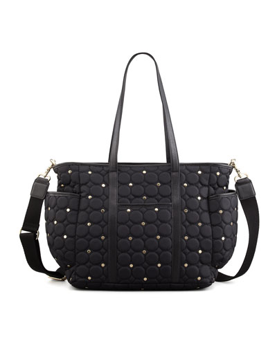 Rebecca Minkoff Marissa Quilted Diaper Bag, Black