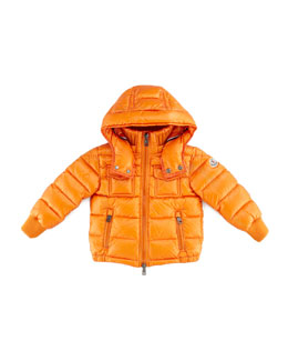 Moncler Boys' Hooded Ski Jacket, Orange, Sizes 8-10
