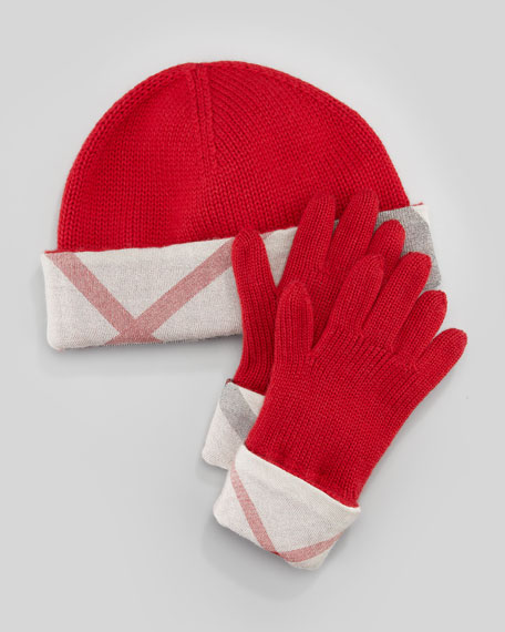 Hat & Gloves Box Set, Red