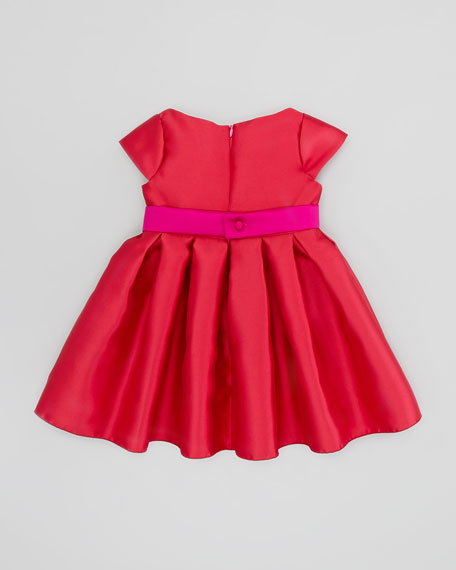 Embellished-Bow Party Dress, Red/Pink, Sizes 2-6