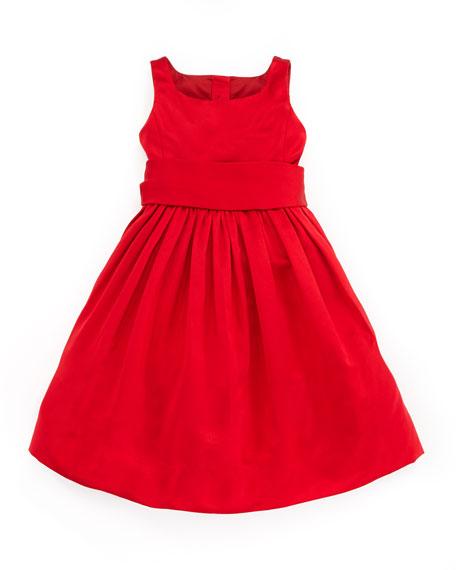 Ralph Lauren Childrenswear Satin Party Dress Red 9 24 Months