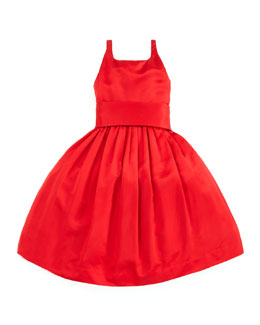 Ralph Lauren Childrenswear Satin Party Dress, Red, Sizes 4-6X