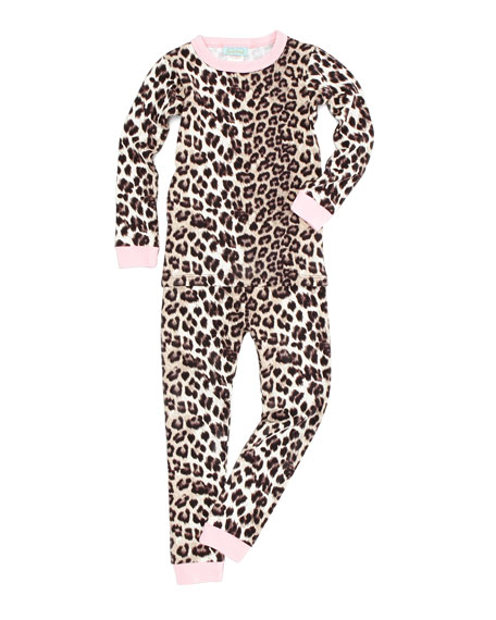 Wild Kingdom Pajamas, Soft Beige, Sizes 2-8