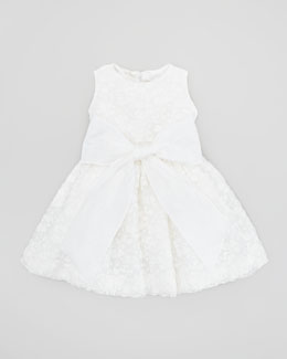 Helena Crocheted Cupcake Dress, White, 2T-3T