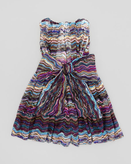 Waves Lace Dress, Blue, Sizes 4-6X