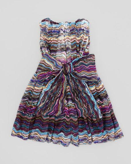 Waves Lace Dress, Blue, 2T-3T