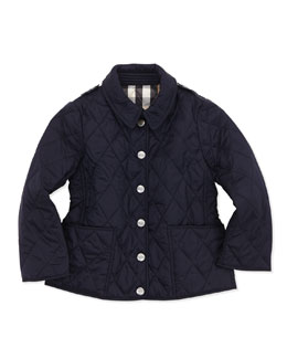 Burberry Lightweight Quilted Nylon Jacket, Navy, 4Y-10Y